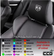 Dodge Logo Car seat Decals